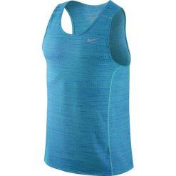 Koszulka do biegania męska NIKE DRI-FIT COOL MILER SINGLET / 718346-418 - NIKE DRI-FIT COOL MILER SINGLET. Niebieskie koszulki sportowe męskie marki Nike, m. Za 79,00 zł.