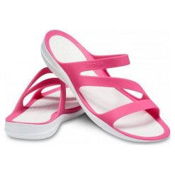 Rzymianki damskie: Crocs Sandały Damskie Swiftwater Sandal W, Paradise Pink/White w6 (36,5)