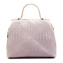 Torebki klasyczne damskie: Skórzana torebka w kolorze jasnoróżowym – (S)34 x (W)27 x (G)16 cm