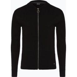 Solid - Kardigan męski, czarny. Czarne swetry rozpinane męskie Solid, m, w prążki, z bawełny. Za 229,95 zł.
