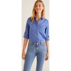 Mango - Koszula Ice. Szare koszule wiązane damskie Mango, l, z bawełny, klasyczne, z klasycznym kołnierzykiem, z długim rękawem. Za 119,90 zł.