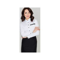 Koszula K033 Biały. Szare koszule damskie marki Lenitif, l. Za 89,00 zł.
