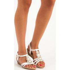 Sandały damskie: Eleganckie sandały na niskiej koturnie CH. CREATION