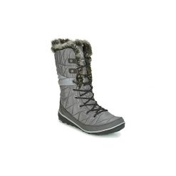 Śniegowce Columbia  HEAVENLY OMNI-HEAT. Szare buty zimowe damskie marki Columbia, z dzianiny. Za 399,99 zł.