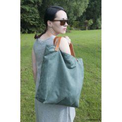 Torba tote XXL - zieleń. Zielone torebki klasyczne damskie Pakamera, ze skóry, duże. Za 129,00 zł.