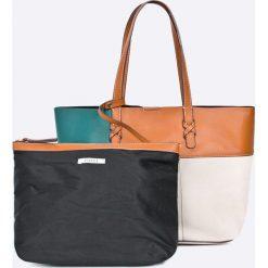 Pieces - Torebka Alice. Szare shopper bag damskie Pieces, z materiału, do ręki, duże. W wyprzedaży za 89,90 zł.