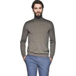Golfy męskie: sweter valero golf brąz