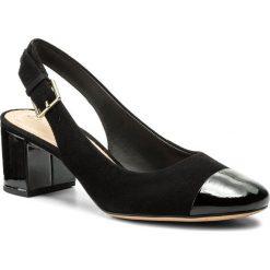 Rzymianki damskie: Sandały CLARKS – Orabella Meg 261342314 Black Combination Suede