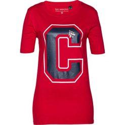 T-shirt bonprix czerwony. Czerwone t-shirty damskie bonprix, z nadrukiem. Za 44,99 zł.