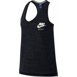 Koszulka Nike Gym Vintage. Czarne bluzki z odkrytymi ramionami Nike, l, z bawełny, sportowe, z okrągłym kołnierzem, na ramiączkach. Za 146,96 zł.