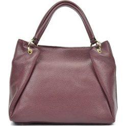 Torebki klasyczne damskie: Skórzana torebka w kolorze bordowym – (S)22 x (W)33 x (G)11 cm