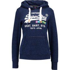 Bluzy damskie: Superdry RAINBOW Bluza z kapturem rugged navy