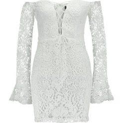 Sukienki: Missguided BARDOT UP FRONT BODYCON Sukienka koktajlowa white
