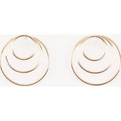 Kolczyki damskie: NA-KD Accessories Kolczyki koła – Gold