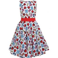 Sukienki dziewczęce: MOSCHINO DRESS Sukienka letnia alphabet heart color
