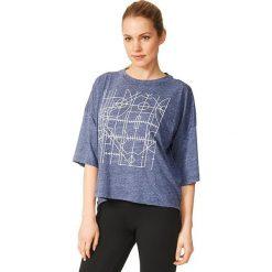 Adidas Koszulka damska Oversized Graphic Tee granatowa r. M (AY0181). Szare topy sportowe damskie marki Adidas, l, z dresówki, na jogę i pilates. Za 134,36 zł.