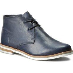 Botki CAPRICE - 9-25100-28 Ocean Nappa 855. Niebieskie buty zimowe damskie Caprice, ze skóry, na obcasie, na sznurówki. W wyprzedaży za 239,00 zł.