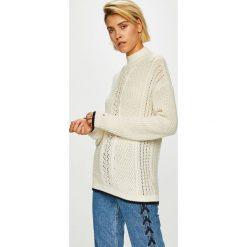 Tommy Hilfiger - Sweter. Czarne swetry klasyczne damskie marki TOMMY HILFIGER, z bawełny. Za 749,90 zł.