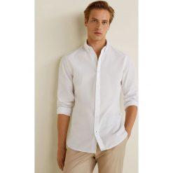 Mango Man - Koszula Quike. Szare koszule męskie na spinki Mango Man, l, z bawełny, button down, z długim rękawem. Za 199,90 zł.