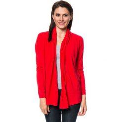 Kardigany damskie: Kardigan w kolorze czerwonym