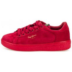 Pepe Jeans Tenisówki Damskie Roxy Bass 39 Czerwony. Czerwone tenisówki damskie Pepe Jeans, z jeansu. W wyprzedaży za 329,00 zł.