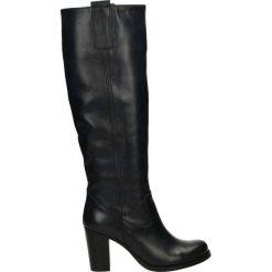 Buty zimowe damskie: Kozaki - VE9 S BLU J15