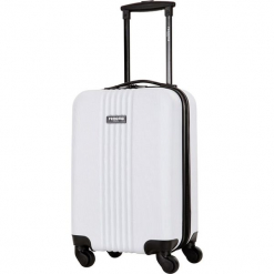 Walizka w kolorze białym - 27 l. Białe walizki Bagstone & Travel One, z materiału. W wyprzedaży za 159,95 zł.