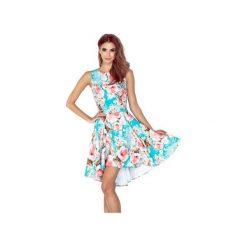 Sukienki: SUKIENKA ASYMETRYCZNA KWIATY