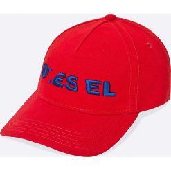 Diesel - Czapka. Białe czapki z daszkiem męskie Diesel. W wyprzedaży za 129,90 zł.