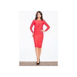 Sukienka M326 Czerwony. Czarne sukienki balowe marki Mohito, l, z dekoltem na plecach. Za 129,00 zł.
