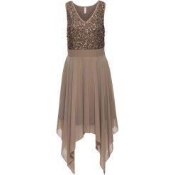 Sukienki: Sukienka wieczorowa z cekinami bonprix jasnobrązowy