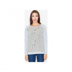 Bluza M514 Szary. Szare bluzy damskie marki FIGL, m, z bawełny, eleganckie, z asymetrycznym kołnierzem, z długim rękawem. Za 149,00 zł.