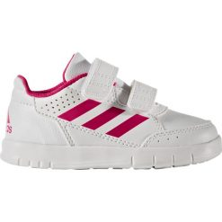 Trampki na rzep AltaSport CF I. Białe buty sportowe dziewczęce adidas Performance, z kauczuku. Za 138,56 zł.