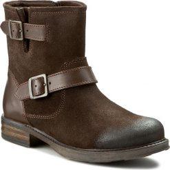 Botki FILIPE - 8466 Castanho 3337/7008. Brązowe buty zimowe damskie Filipe, z materiału, na obcasie. W wyprzedaży za 199,00 zł.
