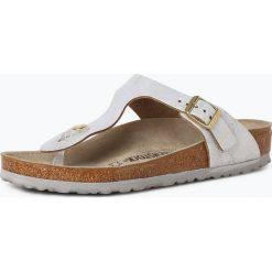 Birkenstock - Sandały damskie ze skóry – Gizeh BS, niebieski. Szare sandały damskie marki Birkenstock, z materiału. Za 249,95 zł.