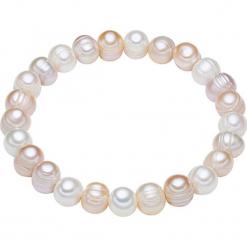 Bransoletka perłowa w kolorze biało-brzoskwiniowo-fioletowym. Białe bransoletki damskie marki Pearls Special. W wyprzedaży za 45,95 zł.