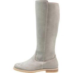 Pier One Kozaki dark gray. Szare buty zimowe damskie marki Pier One, z materiału. W wyprzedaży za 209,50 zł.