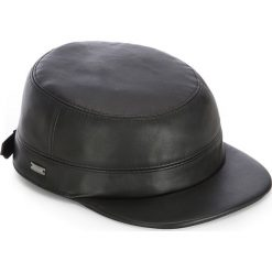 Czapka męska 83-HF-101-1. Czarne czapki z daszkiem męskie Wittchen, na zimę, z bawełny, eleganckie. Za 209,00 zł.