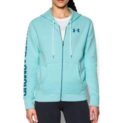 Bluzy sportowe damskie: Under Armour Bluza damska Favorite FZ Hoodie błękitna r.M (1302361-942)