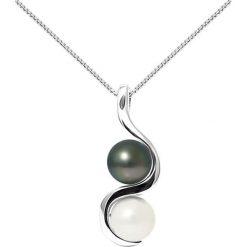 Naszyjniki damskie: Srebrny naszyjnik z perłami tahiti – dł. 42 cm