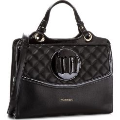 Torebka MONNARI - BAG9950-020 Black. Szare torebki klasyczne damskie marki Monnari, z materiału, średnie. W wyprzedaży za 199,00 zł.