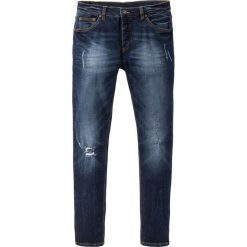 """Dżinsy ze stretchem Skinny Fit Straight bonprix ciemnoniebieski """"used"""". Niebieskie jeansy męskie relaxed fit bonprix, z jeansu. Za 109,99 zł."""
