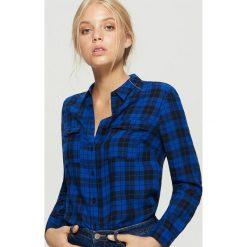 Koszula w kratę - Granatowy. Niebieskie koszule wiązane damskie Cropp, l. Za 49,99 zł.