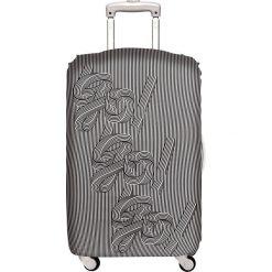Pokrowiec na walizkę LOQI Go Go Go. Szare walizki LOQI, z elastanu. Za 114,00 zł.