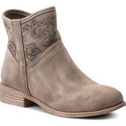 Botki JENNY FAIRY - WS17057 Beżowy. Brązowe buty zimowe damskie Jenny Fairy, z materiału. Za 119,99 zł.