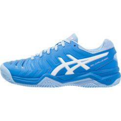ASICS GELCHALLENGER 11 CLAY Obuwie do tenisa Outdoor electric blue/white. Niebieskie buty sportowe damskie Asics, z gumy, na golfa. Za 419,00 zł.