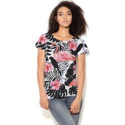 Colour Pleasure Koszulka damska CP-034 269 biało-czarna r. XL/XXL. Białe bluzki damskie Colour pleasure, xl. Za 70,35 zł.