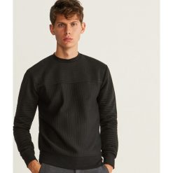 Bluza o prążkowanej fakturze - Czarny. Czarne bluzy męskie marki WED'ZE, m, z materiału. Za 119,99 zł.