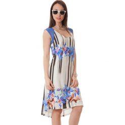 Sukienki asymetryczne: Sukienka w kolorze beżowo-niebieskim