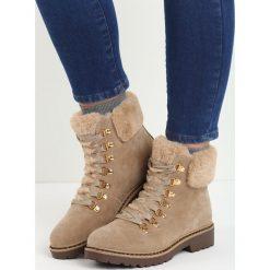Beżowe Traperki Elapsed Time. Brązowe buty zimowe damskie Born2be, z okrągłym noskiem, na płaskiej podeszwie. Za 99,99 zł.